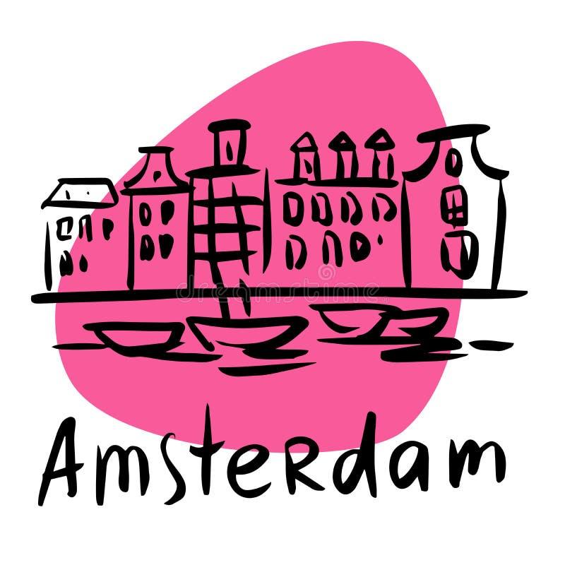 Amsterdam die Hauptstadt von Holland stock abbildung