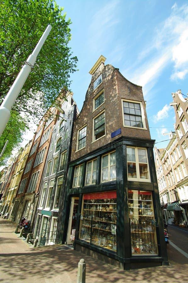 Amsterdam domy obraz stock