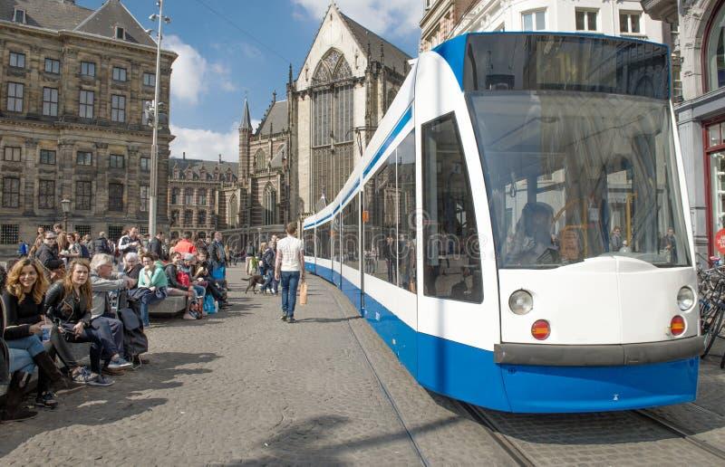 Amsterdam-Drahtseilbahn lizenzfreie stockfotos