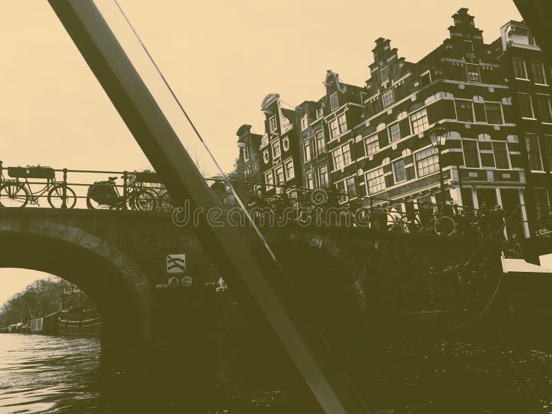 Amsterdam en noir et blanc photographie stock