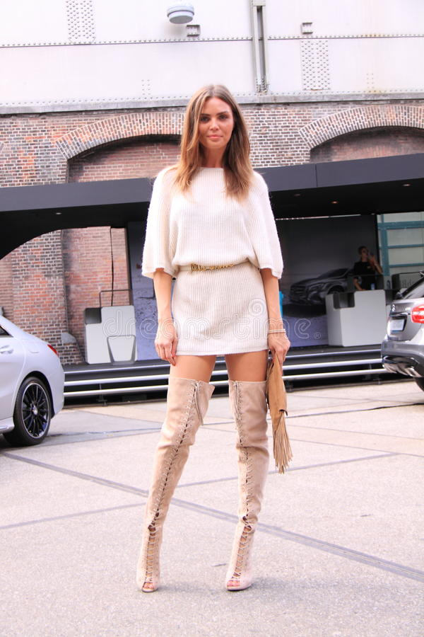 Amsterdam fashion week street style kim feenstra stock photos