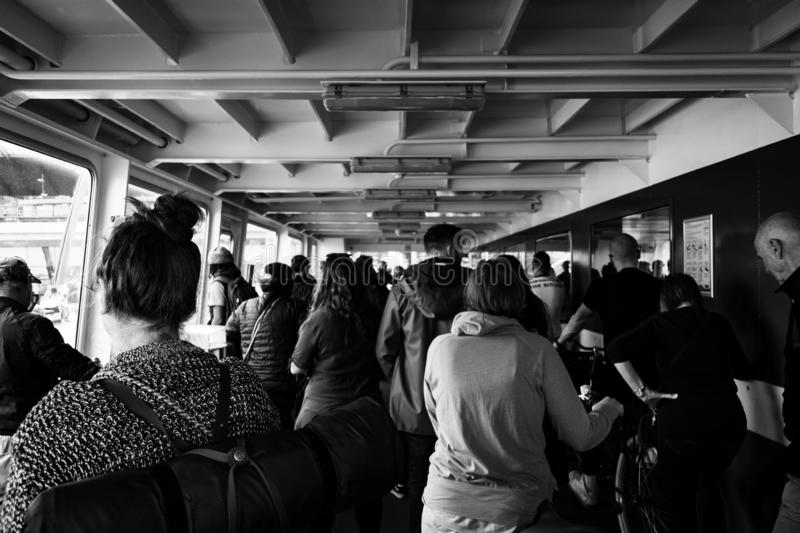Amsterdam ferry boat crossing. royalty free stock photos