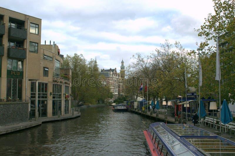 Amsterdam flod arkivfoto