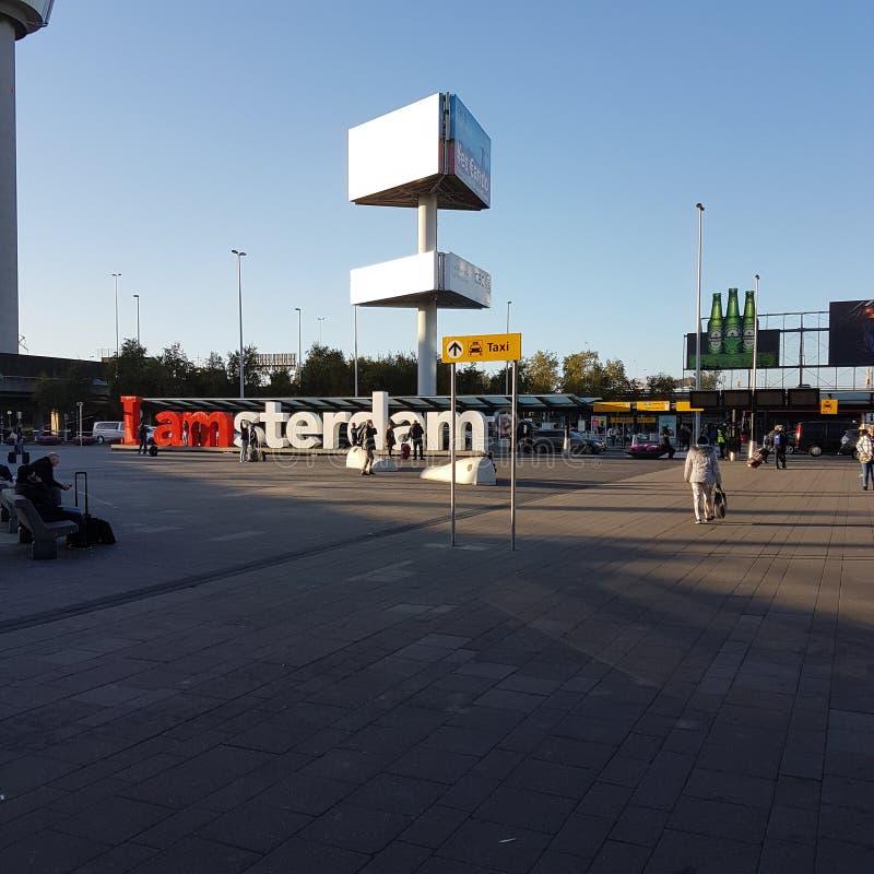 Amsterdam Flystation arkivfoton