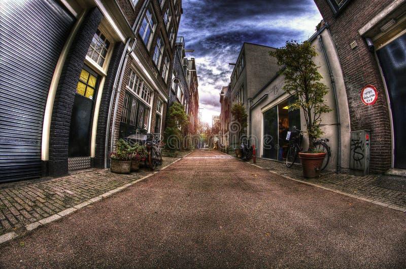 Amsterdam gata arkivbilder
