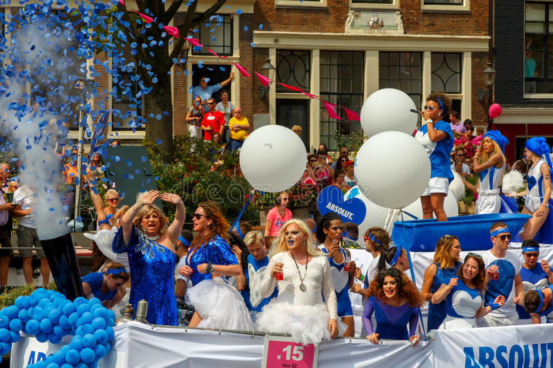 Amsterdam Gay Pride 2014. stock photography