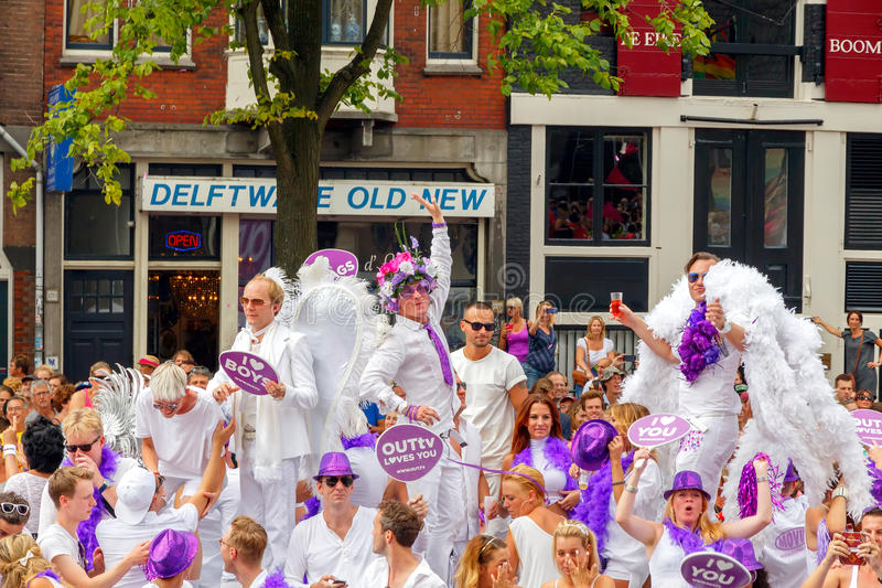 Amsterdam Gay Pride 2014 stock images