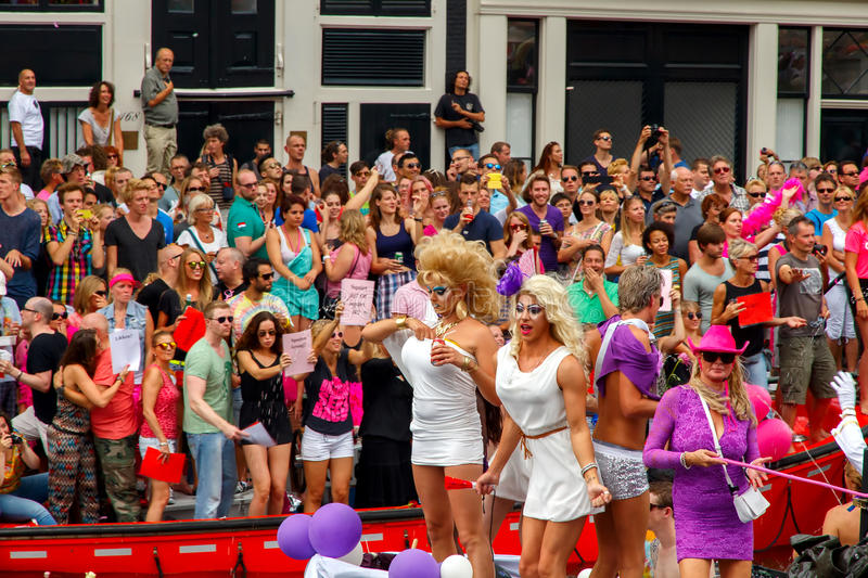 Amsterdam Gay Pride 2014. stock photo