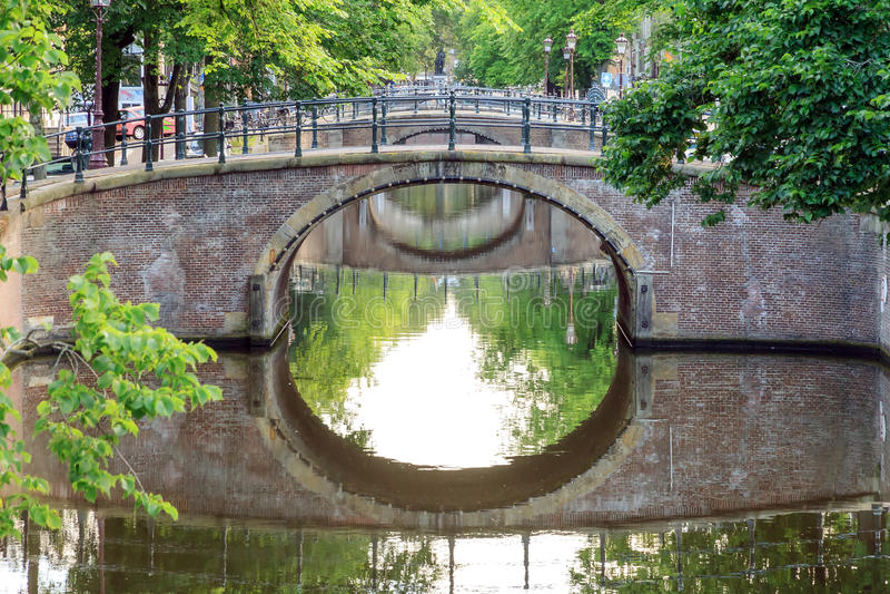 Amsterdam gräsplanbroar royaltyfri bild