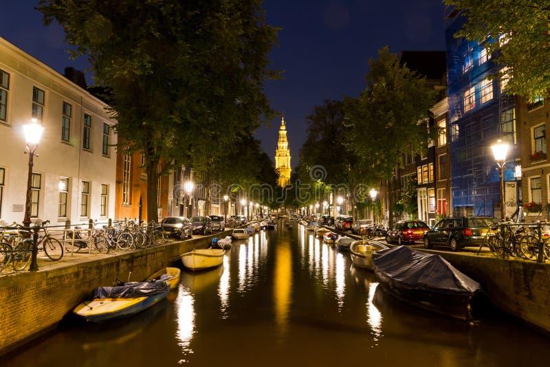 Amsterdam Groenburgwal arkivbilder