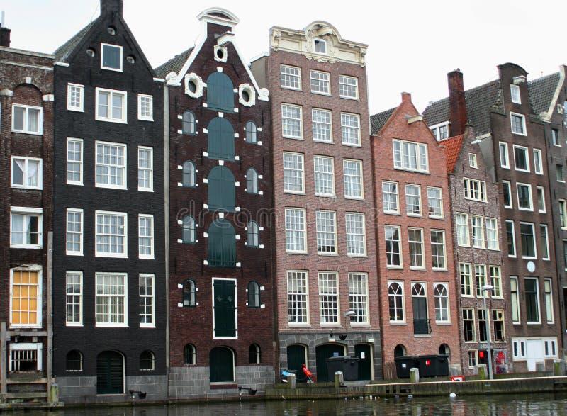 Amsterdam-Häuser stockfoto