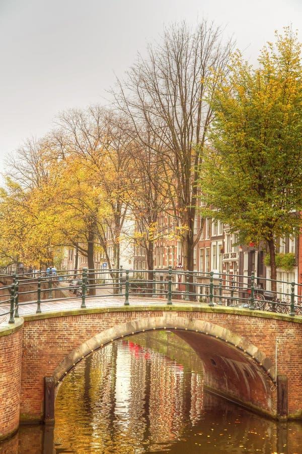 Amsterdam höst arkivbild