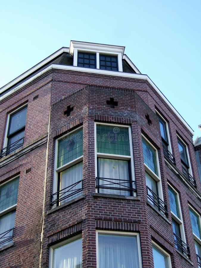 Amsterdam-Hauptfassade lizenzfreies stockbild