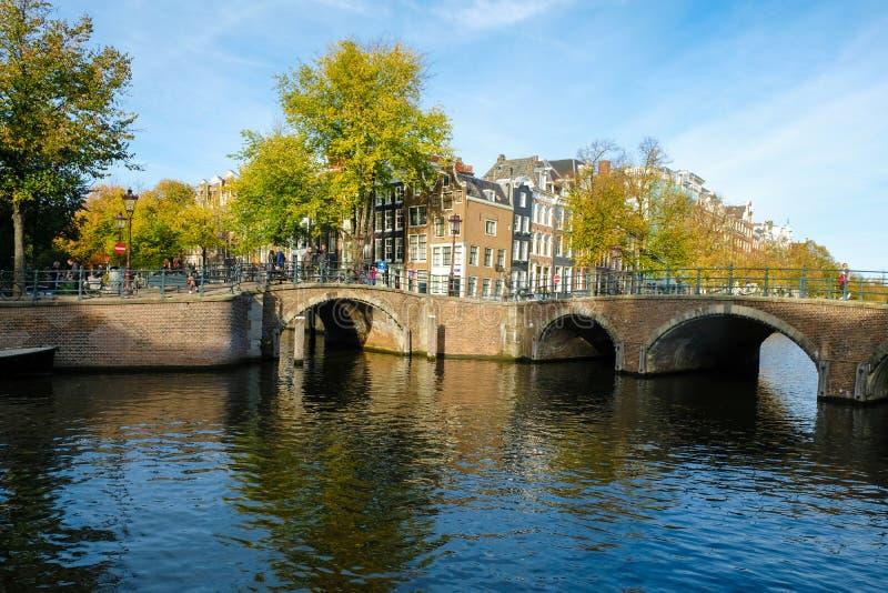 Amsterdam-Herbst stockbilder