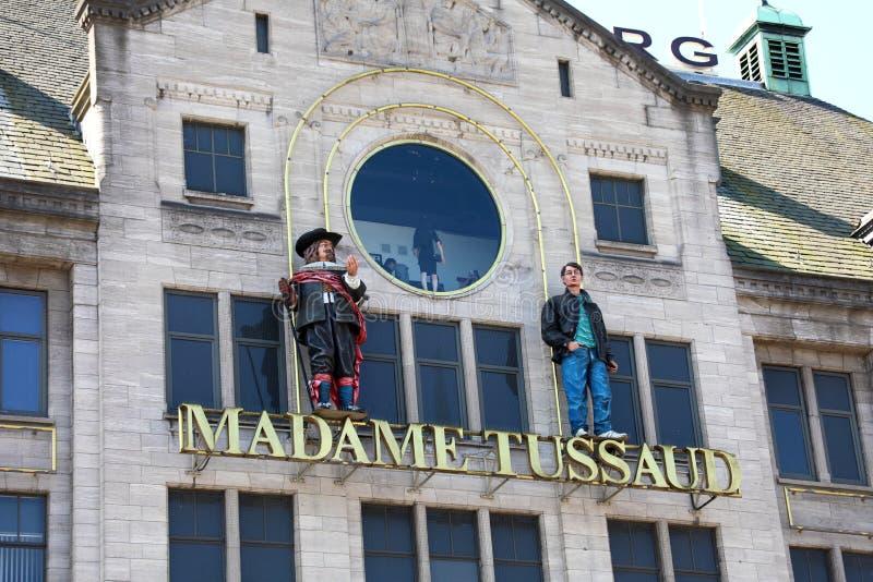 AMSTERDAM, holandie - CZERWIEC 6, 2018: wejście znak na budynku Madame Tussaud Muzeum w Amsterdam, holandie zdjęcie royalty free