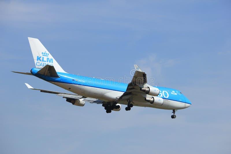 Amsterdam holandie, Lipiec, 21st 2016: PH-CKC KLM ładunek Boeing 747 fotografia stock