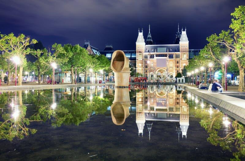 Amsterdam, holandie - Sierpień 15 2017: Rijksmuseum Amsterd fotografia stock