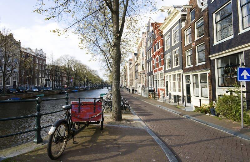amsterdam holland arkivfoto