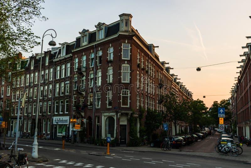 Amsterdam Holland - 2019 City av Amsterdam - historisk mitt arkivbild