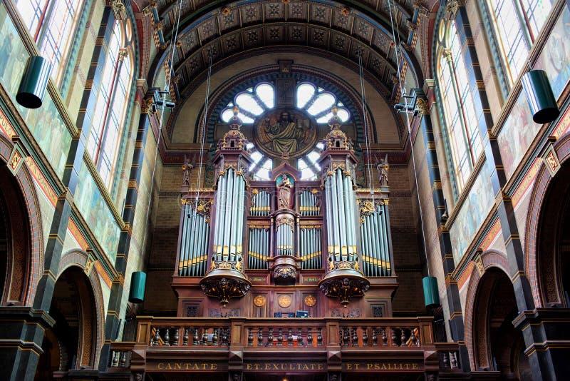 Saint Nicholas Church Organs in Amsterdam royalty free stock photography