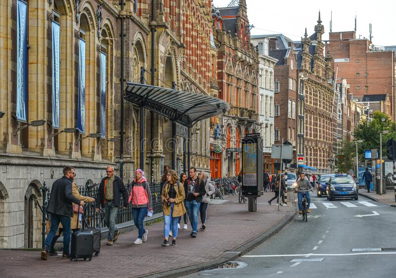 Cityscape of Amsterdam, Holland royalty free stock image
