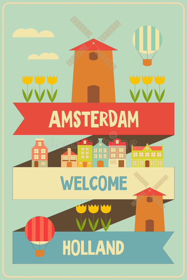 Amsterdam royalty free illustration