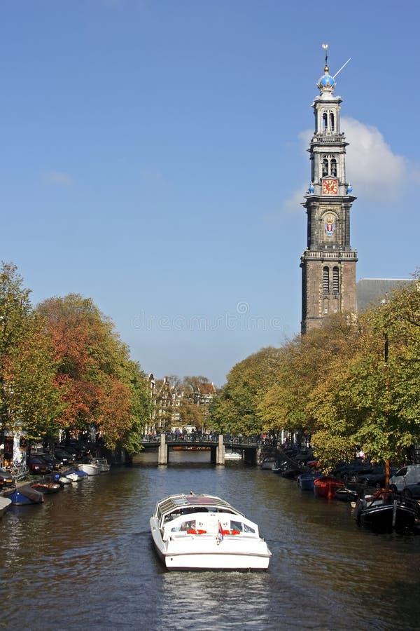 amsterdam holland westerkerk royaltyfria foton
