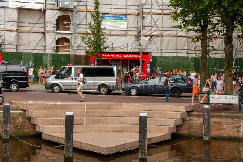 Amsterdam Homomonument stock foto's