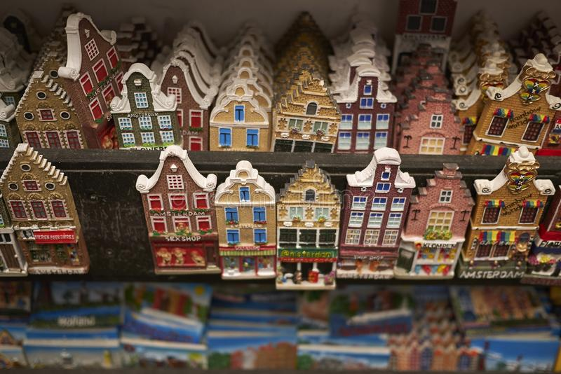 Amsterdam house magnets stock photography