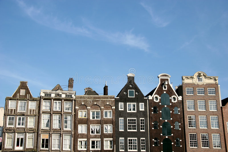 Download Amsterdam Houses stock photo. Image of architecture, apartments - 931460