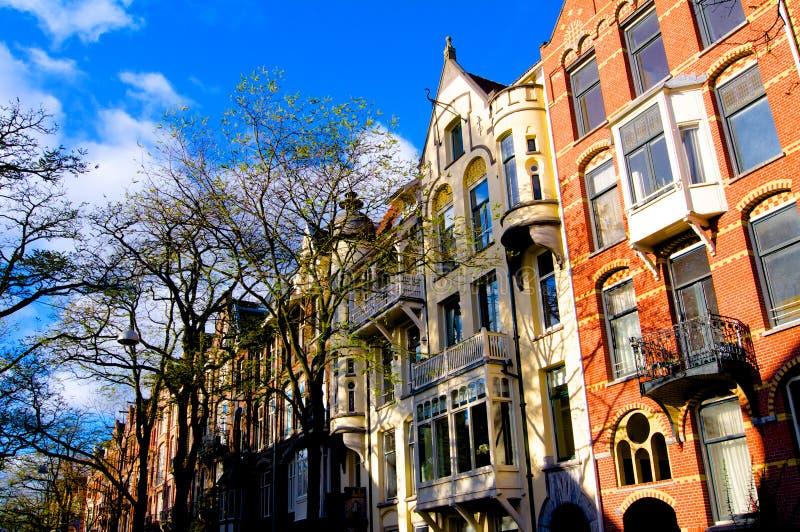 Amsterdam houses autumn Netherlands. Europe stock image