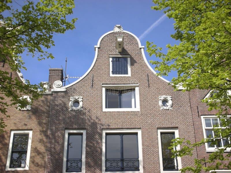 amsterdam houses rad arkivfoto