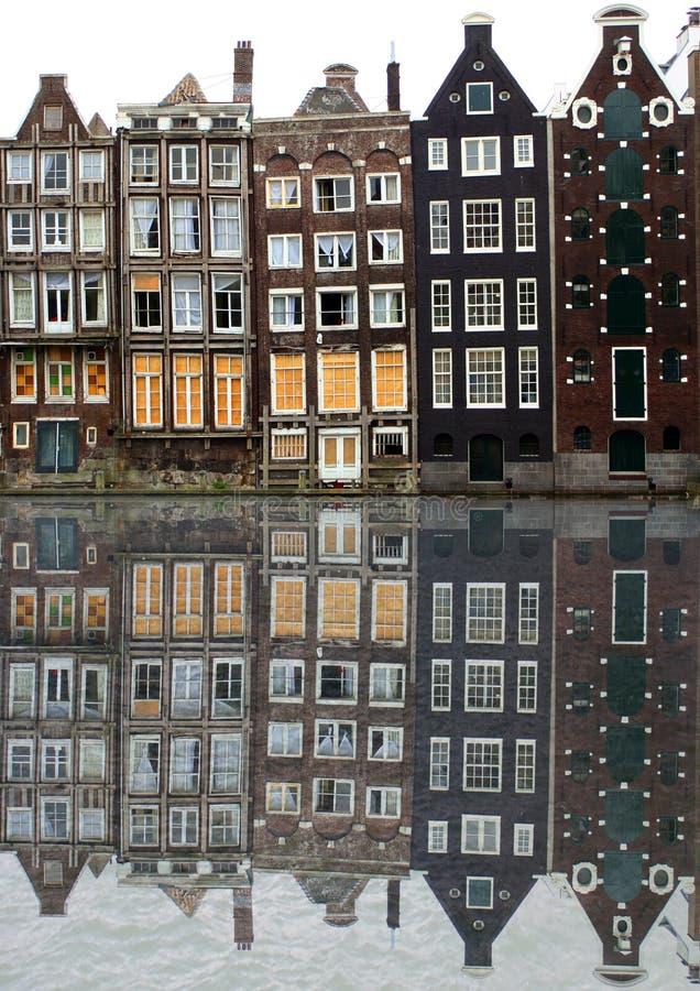 amsterdam hus arkivbilder
