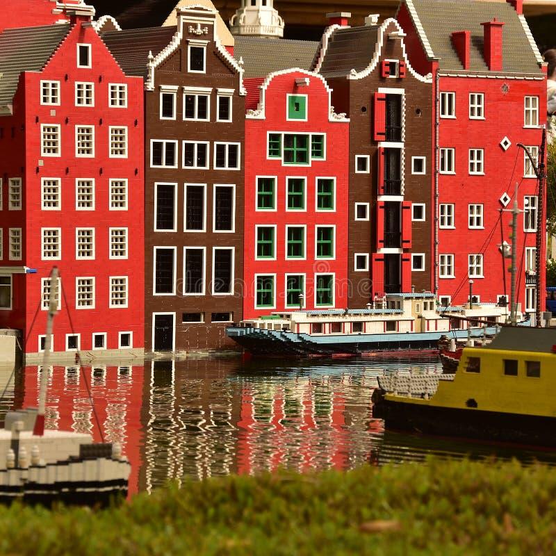 Amsterdam i Lego arkivbilder