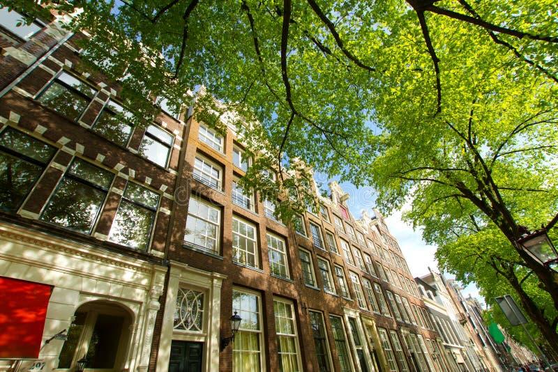 Amsterdam i sommar fotografering för bildbyråer