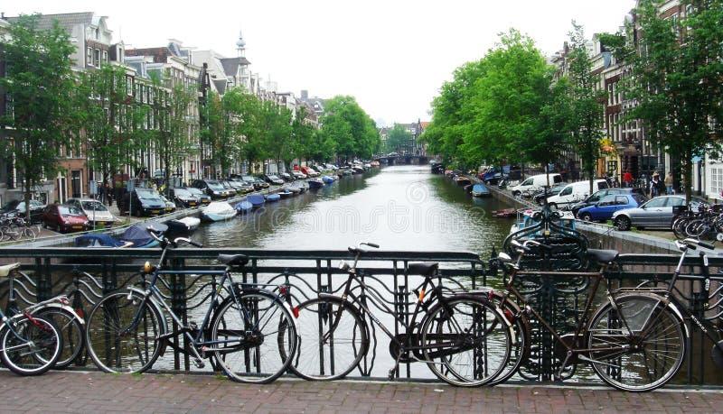 Amsterdam i vår royaltyfria bilder