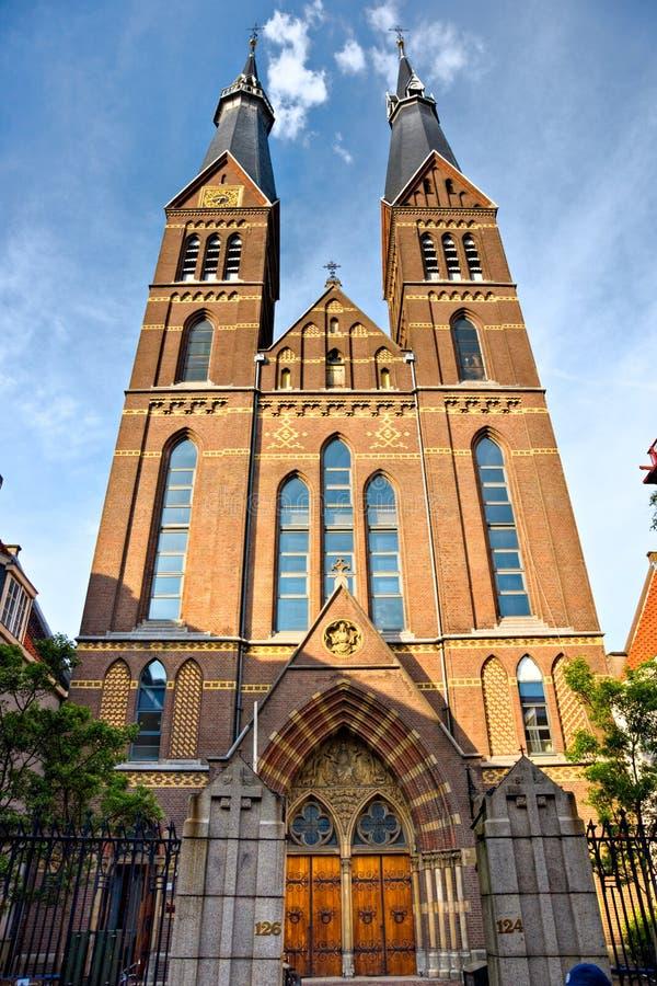 Amsterdam, iglesia en Jordaan, Holanda. imagen de archivo