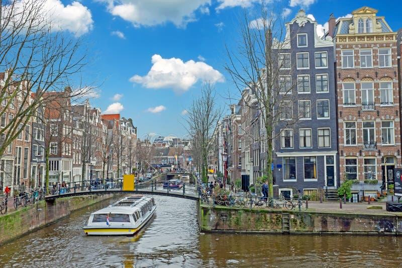 Amsterdam in Jordaan in Nederland stock afbeelding
