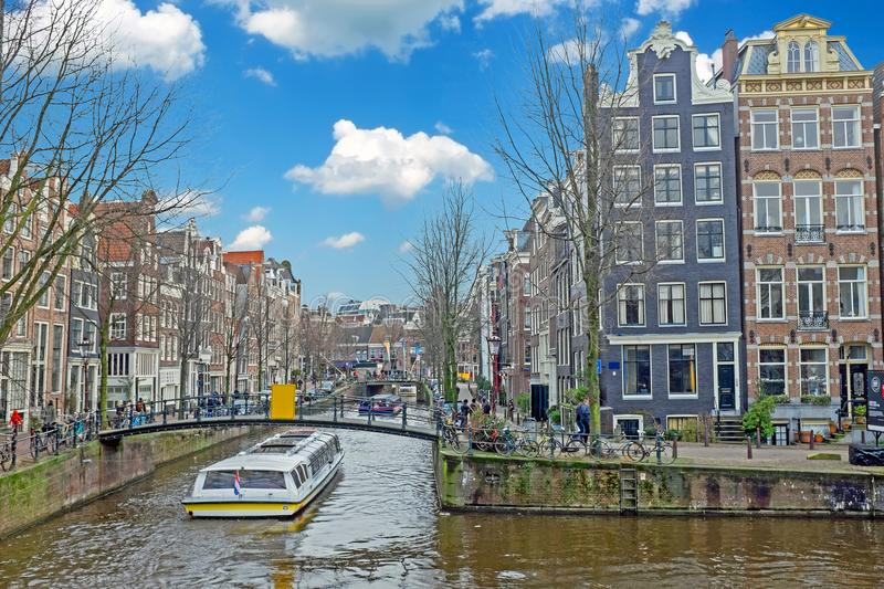 Amsterdam in the Jordaan in the Netherlands stock image