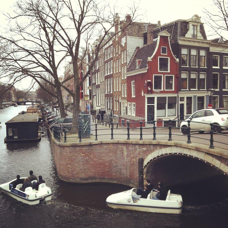 Amsterdam kanał obrazy royalty free