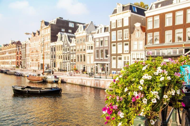 Amsterdam kanału widok fotografia royalty free