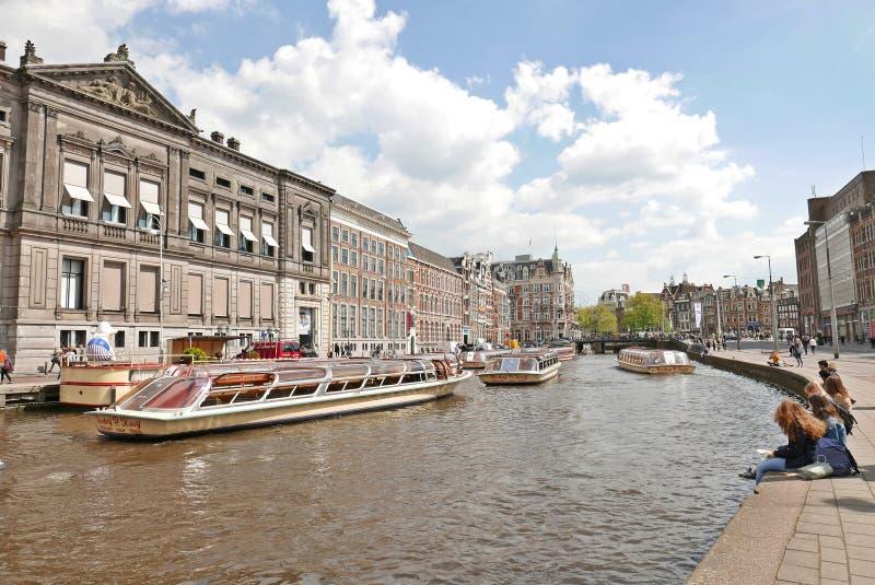 Amsterdam kanały obraz royalty free