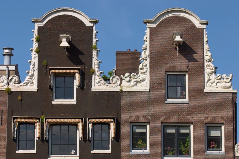 Amsterdam-Kanal-Häuser stockbild