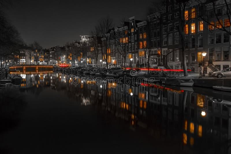 Amsterdam kanaler arkivbilder