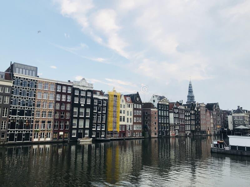 amsterdam kanaler arkivfoto