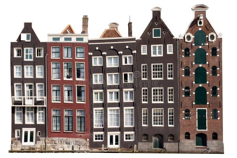 Amsterdam-Kanalhäuser lizenzfreie stockfotos