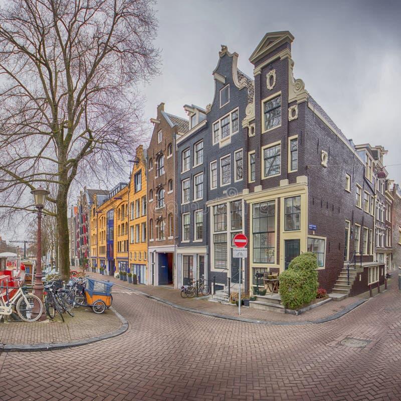 Amsterdam Keizersgracht arkivfoton
