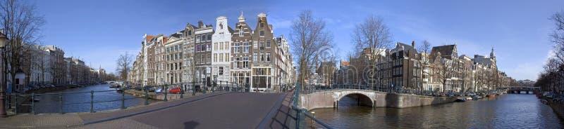 Amsterdam Keizersgracht-Leidsegracht En Holanda Imagen de archivo