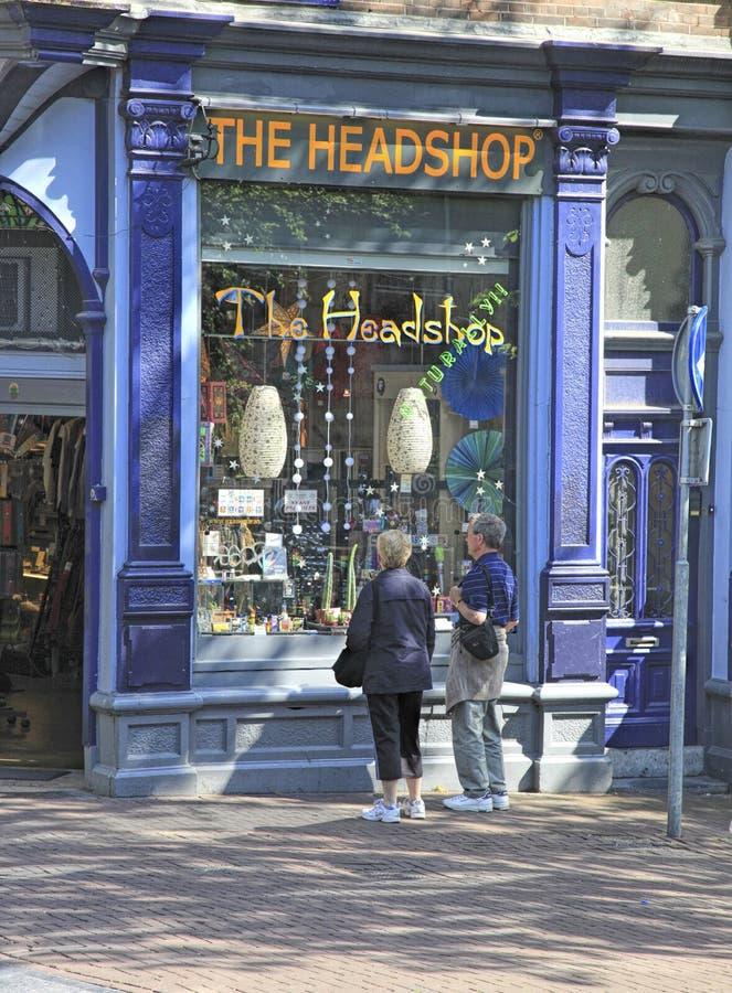 Amsterdam Kierowniczy sklep, Holandia fotografia royalty free