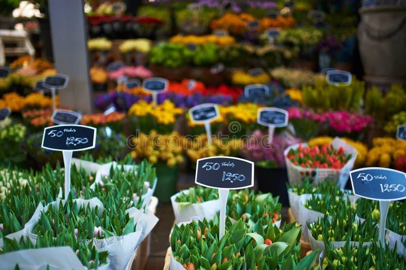 Amsterdam kwiatu rynek zdjęcia stock